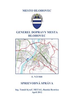 Návrh Generel dopravy mesta Hlohovec