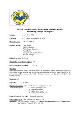 Mikulášsky turnaj FAM Poprad