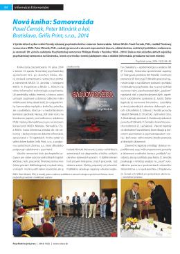 Nová kniha: Samovražda - Psychiatrická nemocnica Philippa Pinela