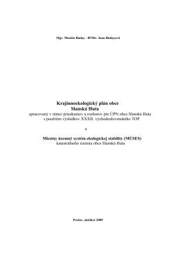 Krajinnoekologický plán obce Slanská Huta