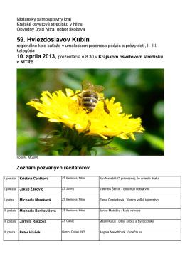 pozvánka na stiahnutie - Krajské osvetové stredisko v Nitre