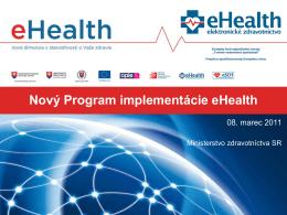 Nový program implementácie eHealth