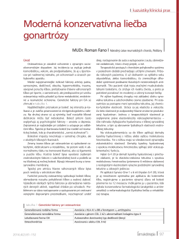 Moderná konzervatívna liečba gonartrózy