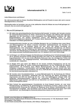 Informationsbrief Nr. 5