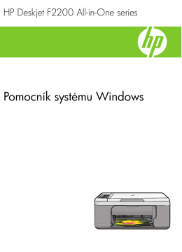 1 Pomocník zariadenia HP Deskjet F2200 All-in