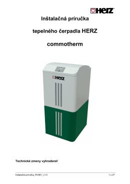 Inštalačná príručka tepelného čerpadla HERZ commotherm