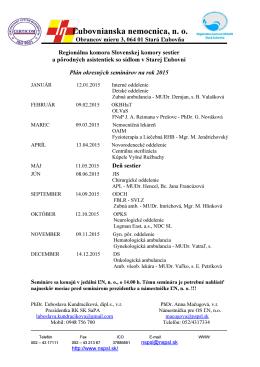 na rok 2015 - Ľubovnianska nemocnica n. o.