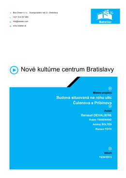 Nové kultúrne centrum Bratislavy