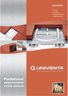 Suchá podlahovka UNIVENTA - flexi