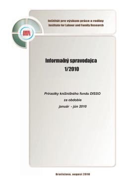 Informačný spravodajca 1/2010