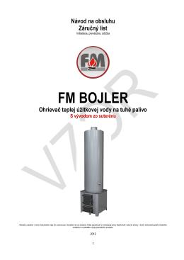 FM Bojler 90l - 105l s vývodom do suterenu - PS