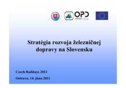 Stratégia rozvoja železničnej dopravy na Slovensku