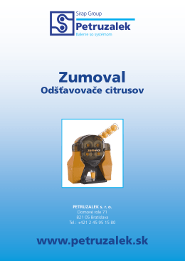 Zumoval - PETRUZALEK