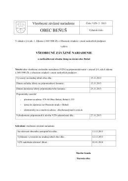 VZN č.22013 o zneškodňovaní-žúmp