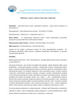 Slovenská komora sestier a pôrodných asistentiek Sekcia