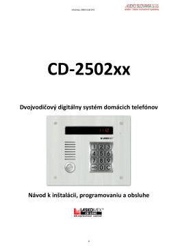 Digitálny systém domového telefónu
