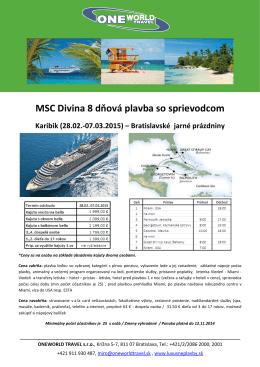 MSC Divina – Karibik 28.2.