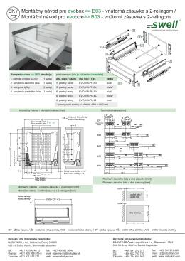 SK / CZ Montážny návod pre evobox B03 - vnútorná