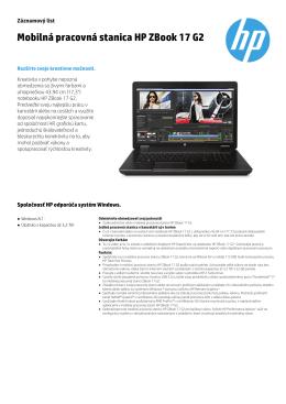 Mobilná pracovná stanica HP ZBook 17 G2