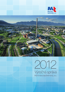 Výročná správa 2012 - Martinská teplárenská, as