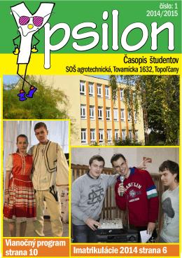 Časopis študentov - Stredná odborná škola agrotechnická