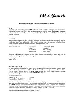 TM SOLFOSTERIL - info