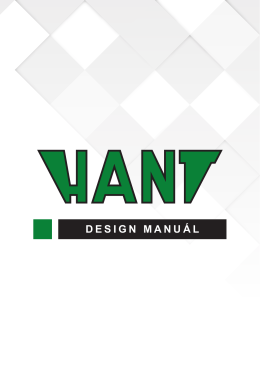 DESIGN MANUÁL - HANT BA, a.s.
