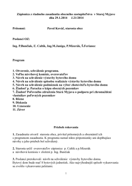 Zapisnica OZ 29.01.2014