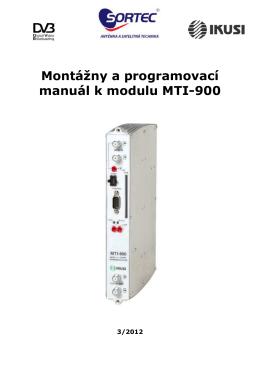 MTI-900 - Sortec Elektronic s.r.o.