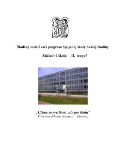 Školský vzdelávací program ZŠ - 2. stupeň