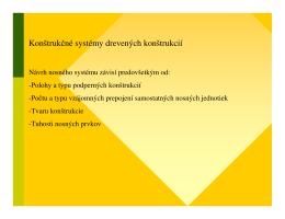 Konštrukčné systémy drevených konštrukcií