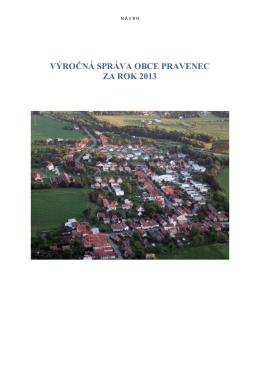 Návrh Výročnej správy obce Pravenec za rok 2013