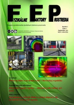 September 2011 - Fyzikálne faktory prostredia