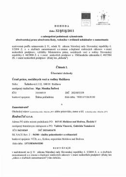 Dohoda o zabezpečení podmienok vykonávania absolventskej