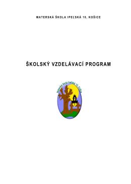 Školský vzdelávací program.pdf - Materská škola | Ipeľská 10, Košice