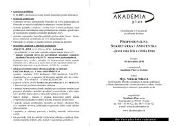Profesionálna sekretárka / asistentka
