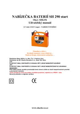 manual nabijecka SH 290 start - Nářadí