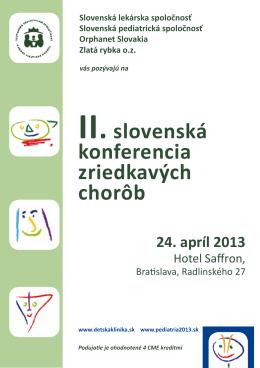II. slovenská konferencia zriedkavých chorôb
