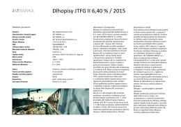 Dlhopisy JTFG II 6,40 % / 2015