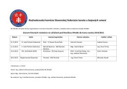 HLAVNÍ ROZHODCOVIA na súťažiach - Slovenská federácia karate