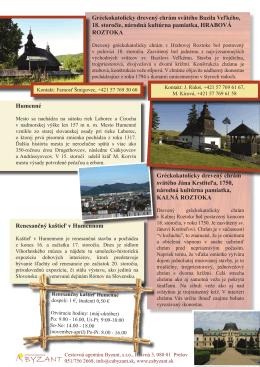 Drevené chrámy v okolí Sniny - Cestovná agentúra Byzant s. r. o.