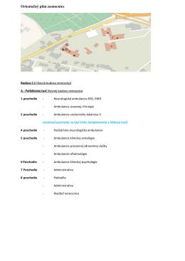 mape areálu - NsP Levice