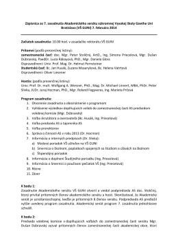 Zápisnica AS 7/2014 - Hochschule Goethe Uni Bratislava