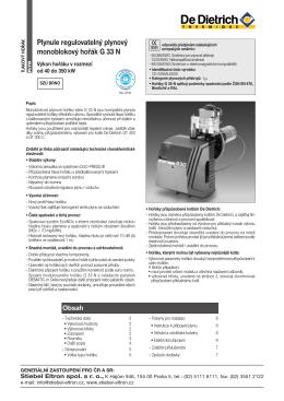 Plynule regulovateľný plynový monoblokový horák G 33 N