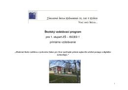 Školský vzdelávací program pre primárne