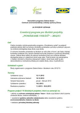 grantovej výzve