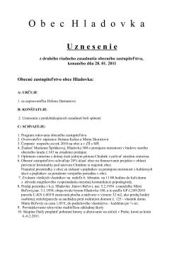 01 Uznesenie z II. zasadnutia OZ, 28. 1. 2011