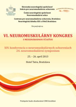 VI. neuromuskulárny kongres