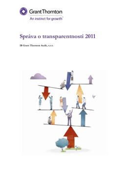 Správa o transparentnosti 2011