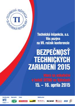 bezpečnosť technických zariadení 2015